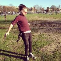 Photo taken at Clapham Skate Park by Charlie P. on 3/16/2014