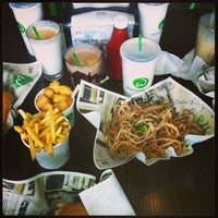 Photo taken at Wahlburgers by janine on 4/20/2013