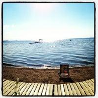 Photo taken at Sylvan Beach NY by Ryan Y. on 7/14/2013