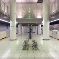 Photo taken at Meiji-jingumae 'Harajuku' Station by Hugh W. on 3/22/2014
