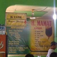 Photo taken at Soto Betawi H. Mamat by Wirya M. on 9/29/2012
