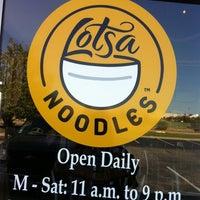 Photo taken at Lotsa Noodles by Suzanne E J. on 10/12/2013