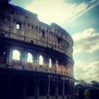 Photo taken at Piazza del Colosseo by Inma M. on 10/8/2012