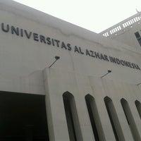 Photo taken at Universitas Al Azhar Indonesia by Agnes N. on 4/7/2013