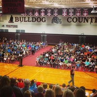 Photo taken at Magnolia High School by Mark C. on 8/16/2014