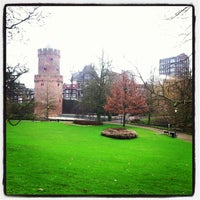 Photo taken at Kronenburgerpark by Harry M. on 1/8/2013
