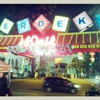 Photo taken at Merdeka Walk by Galuh P. on 2/10/2013