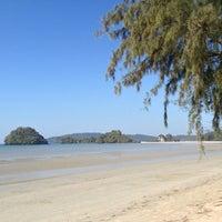 Photo taken at Ao Nang Beach by Johan Johari M. on 1/18/2013