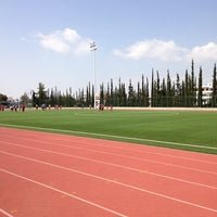 Photo taken at Soccer Field & Running Track ACG-Deree by Panos M. on 3/16/2014