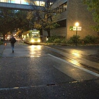Photo taken at Portland Streetcar Jay Kenton Station (SW Park & Mill) by Mo R. on 10/31/2012