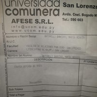 Photo taken at UCOM sede San Lorenzo by Renata A. on 11/19/2014