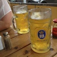 Photo taken at Max Bratwurst und Bier by Bianca B. on 7/1/2013