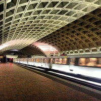 Photo taken at Metro Center Metro Station by Andrew K. on 12/25/2012