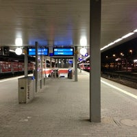 Photo taken at Saarbrücken Hauptbahnhof by Andrea R. on 3/6/2013