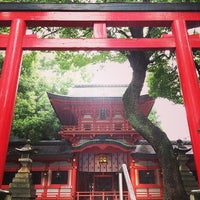 Photo taken at 春日神社 by Rie O. on 8/9/2014