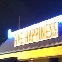 Photo taken at Five Happiness Restaurant by Dani C. on 4/19/2013