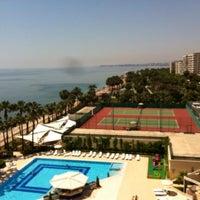 Photo taken at Mersin HiltonSA Hotel by Engin G. on 5/1/2013