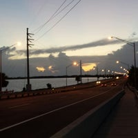 Photo taken at Eau Gallie Causeway by Alex C. on 7/17/2013