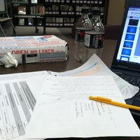 Photo taken at Roesch Library by Alison R. on 12/6/2012