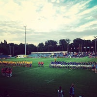 "Photo taken at Stadionul Național de Rugby ""Arcul de Triumf"" by Horia U. on 6/17/2015"