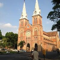 Photo taken at Saigon Notre-Dame Basilica by Andrea B. on 3/23/2013