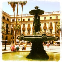 Photo taken at Plaça Reial by Philippe K. on 7/22/2013