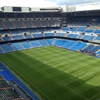 Photo taken at Santiago Bernabéu Stadium by Alyssa S. on 5/19/2013
