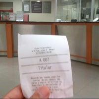 Photo taken at Banco Santander by Oscar A. on 12/27/2012