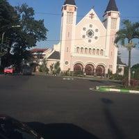 Photo taken at Gereja Katolik Katedral Santa Perawan Maria Dari Gunung Karmel by Rio R. on 7/4/2016