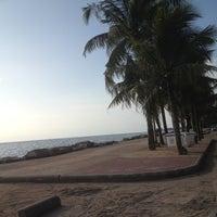 Photo taken at Wonnapa Beach by Nathamon A. on 10/3/2012