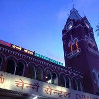 Photo taken at Chennai Central Sub Urban Station by Madhumitha R. on 6/9/2013