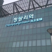 Photo taken at Cheongnyangni Stn. by 용훈 김. on 10/25/2012