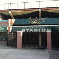 Photo taken at USF Track and Field Complex by Edgar J. on 4/26/2013