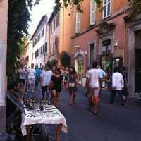 Photo taken at Rione XIII - Trastevere by Stefano on 8/10/2013