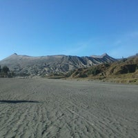 Photo taken at Mount Bromo by Tia Djanaka S. on 10/8/2012