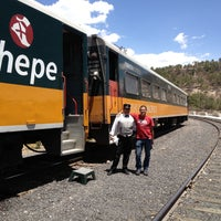 Photo taken at Ferrocarril Chihuahua Pacífico (Chepe) Estación Divisadero by Carlos M. on 4/30/2013