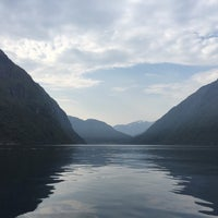 Photo taken at Geirangerfjorden by Za on 9/15/2016