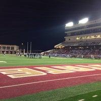 Photo taken at Bobcat Stadium by Taylor H. on 11/16/2013