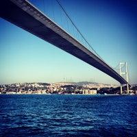 Photo taken at Bosphorus Bridge by Petr M. on 8/25/2013