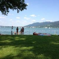 Photo taken at Strandbad Bregenz by Juliett on 7/13/2013