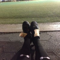 Photo taken at Lions Gate Soccer Field by Elysa on 4/20/2013