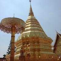 Photo taken at Wat Phrathat Doi Suthep by Wilas P. on 3/23/2013