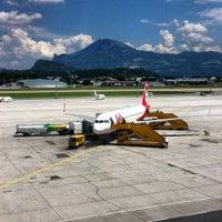 Photo taken at Salzburg Airport W. A. Mozart (SZG) by Robert P. on 6/8/2013