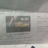 Photo taken at Late Late Show With Craig Ferguson by Adrian D. on 7/18/2013