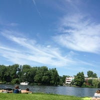Photo taken at Treptower Park by Marcus B. on 7/7/2013