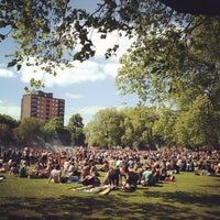 Photo taken at London Fields by Anuwat C. on 6/8/2013