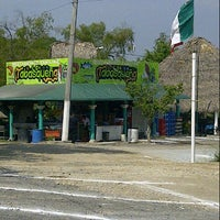 "Photo taken at Palapa ""La Tabasqueña"" by Miguel S. on 10/17/2012"