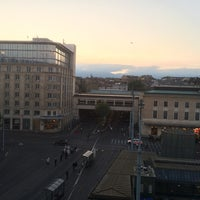 Photo taken at Place Cornavin by Francisco D. on 9/9/2014