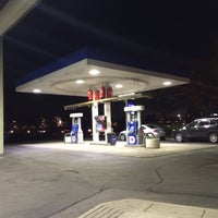 Photo taken at Mobil by Eric A. on 10/23/2015