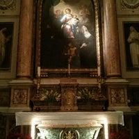 Photo taken at Basilica di Sant'Agostino in Campo Marzio by Catarina L. on 12/26/2013